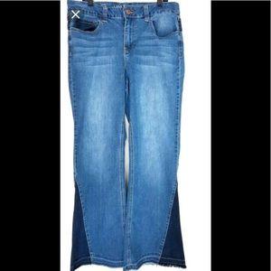 Lane Bryant mid rise flare leg jeans